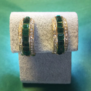 Dior Emerald Green Earrings